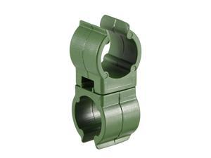 Gardening Universal Clip, PP Plastic Rotatable Trellis Connector Bracket Parts for 16mm Dia Plant Stakes 24pcs