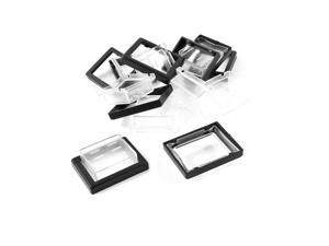 10 Pcs Protective 26mmx20mm Plastic Waterproof Rocker Switch Cover