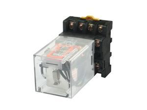 Unique Bargains MK3P-I 110V AC 11-Pin 3PDT General Purpose Coil Power Relay w Socket Base