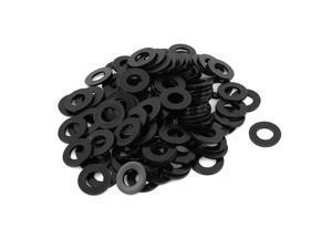 100pcs Round Insulation Nylon Flat Spacer Washer Gasket Ring 12 x 24 x 2mm Black