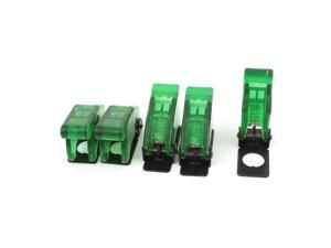 Global Bargains 5Pcs Green Waterproof Toggle Switch Cover Flip Safety Protection Cap 12mm