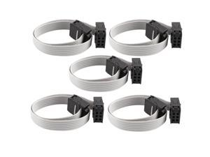 5 Pcs 20cm IDC 6 Pin Hard Drive Extension Wire Flat Ribbon Cable for Motherboard