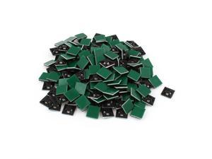 200 Pcs 12mmx12mm Square Self-Adhesive Cable Tie Mount Bases for 3mm Zip Tie