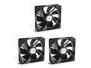 3pcs 12V DC Brushless Axial Cooling Fan Machinery Cooler 12cmx12cmx2.5cm