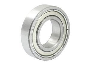 Metal Sealed 6901Z Deep Groove Ball Bearing 24mm x 12mm x 6mm Silver Tone