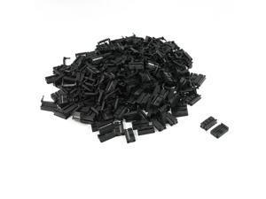 Unique Bargains 200 Pcs FC-16P 16 Pin Male IDC Socket Plug Ribbon Cable Connector Black