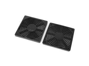 Unique Bargains 2 Pcs Black Plastic Dustproof Filter 120mm PC Computer Case Fan Dust Guard Mesh