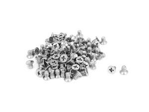 Unique Bargains M4x6mm Stainless Steel Countersunk Flat Head Cross Phillips Screw Bolts 100pcs