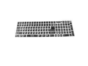Unique Bargains PC Laptop Keyboard English Arabic Sticker Decal Decor Black White