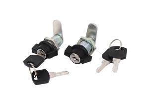 Cabinet Cupboard Threaded Locking T Handle Cam Locks 16mmx25mm 2pcs