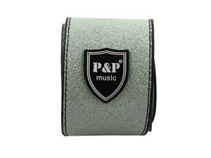 P&P Authorized PU Leather Adjustable Acoustic Guitar Bass Strap Belt Green