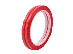 2Pcs 5mm Single Sided Strong Self Adhesive Mylar Tape 50M Length Red