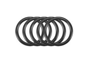 50Pcs Black 3.8mm x 1mm Nitrile Rubber O Ring NBR Oil Sealing Grommets