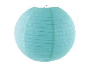 Festival Paper Lantern Lamp String Lighting Christmas Gift Turquoise Color 35cm