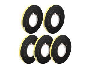 5pcs 10mm x 10mm Self Adhesive Shock Resistant Anti-noise Foam Tape 2M Length