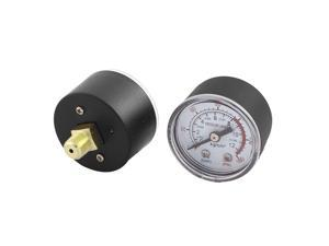 0-180psi 0-12 kg/cm2 1/8BSP Thread Dia Dial Air Pressure Gauge 2 Pcs