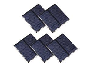 5Pcs 0.7W 5V Micro Solar Panel Module DIY Polysilicon for Phone Toys Charger