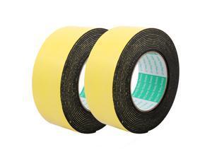 5cm Width 2mm Thickness 2m Long Single Side Sealing Shockproof Sponge Tape 2Pcs