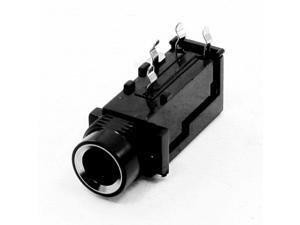 Audio Stereo PCB Mounting Connector 6.5mm Socket 4 Pin
