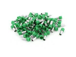 100 Pcs 5AWG Crimp Cord End Terminal Insulated Bootlace Ferrule Connector Green