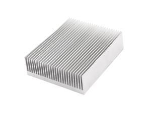 Silver Tone Aluminium Heat Diffuse Heatsink 100x80x27mm