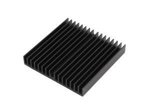 Global Bargains Black Aluminum Radiator Fin Heatsink 60mm x 60mm x 10mm