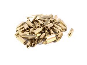 Unique Bargains 50pcs Brass Hex Standoff Spacer M4 x 16+6mm Female to Male