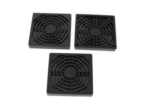 Unique Bargains 3pcs Black Plastic Dustproof Filter 85mm PC Computer Case Fan Dust Guard Mesh