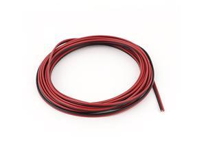 Unique Bargains 5M 18AWG 0.75mm2 Red Black Dual Core Cable Wire for Car Auto Speaker LED Lights