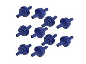 Unique Bargains 10 Pieces Blue Plastic Aquarium Fish Tank Non-Return Air Pump Check Valve