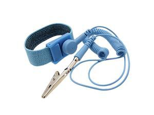 Unique Bargains Blue Coil Cable Anti Static Antistatic Wrist Strap Wristband