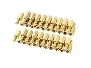 Unique Bargains 50pcs M3 8+6mm Female Male Thread Brass Hex Standoff Spacer Screws PCB Pillar
