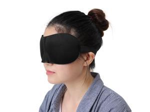 3D Sleep Eye Shade Cover Travel Aid Blindfolds Soft Adjustable Contoured Slumber Pad Break Relax Deep Sleeping Black