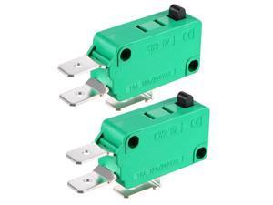 2PCS KW3-OZ 16A 125/250VAC SPDT NO NC Push Button Action Type Micro Limit Switches