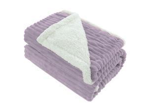 "Fleece Blanket Purple Lightweight Throw Blanket Super Soft Reversible Plush Microfiber Blanket,50"" x 60"""