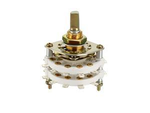 2P10T 2 Pole 10 Throw 2 Deck Band Channel Rotary Switch Selector