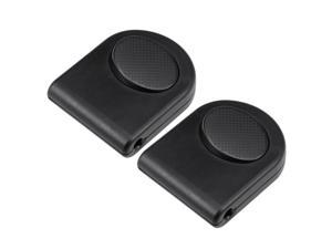 Inline Foot Pedal Push Lamp Switch, Step-on-button Lighting Foot Control ON/Off Footswitch Black 2 Pcs