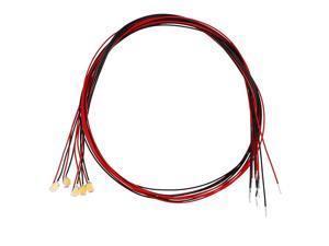 5pcs Prewired 0805 Warm White SMD LED Light Emitting Diode - DC2.8-3V Micro Soldered Mini LED Light