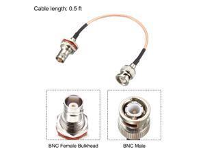 BNC Bulkhead Female to BNC Male RG316 RF Coaxial Extension Cable 50 ohm 0.5 Feet