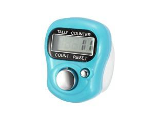 Digital Tally Counter 5 Digit Clickers Mini Finger Ring LCD Electronic Handheld Resettable Blue