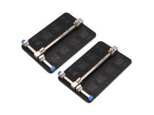 PCB Circuit Board Holder, Universal Holder for Adjustable Mobile Phone Repair and Soldering, w 8 Kinds of IC Grooves, Stainless Steel 2pcs