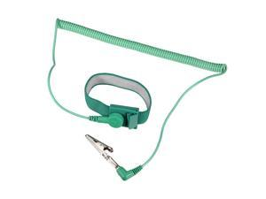 Anti Static Wrist Straps, ESD Components, Stainless Steel Magnetic Tray Grounding Wire Alligator Clip 2.5M Green 2pcs