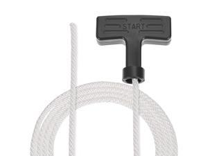 Recoil Starter Rope with Handle 5mm Dia 1.3 Meter 4.26ft Polyester Pull Cord for 173F 188F 190F Lawn Mower Trimmer Engine Part 5pcs