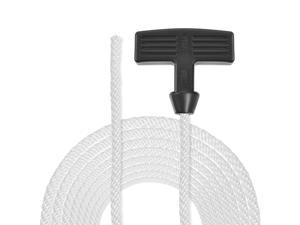Recoil Starter Rope with Handle 6mm Dia 1.55m 5ft Nylon Pull Cord for 178F 186F Lawn Mower Trimmer Chainsaw Engine Part 5pcs