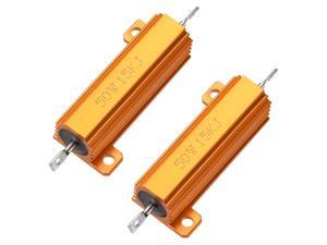 Chassis Mounted 25W 15K Ohm 5/% Aluminum Case Wirewound Resistor