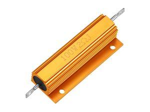 Aluminum Case Resistor 100W 2 Ohm Wirewound Yellow for LED Replacement Converter