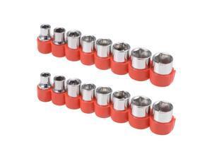 1/4-Inch Drive Hex Socket Set 5mm - 12mm Metric Cr-V, 2 Set