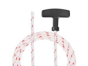 Recoil Starter Rope with Handle 5.5mm Dia 2.9m 9.5ft Polyester Pull Cord for 173F 188F 190F Lawn Mower Trimmer Engine Part