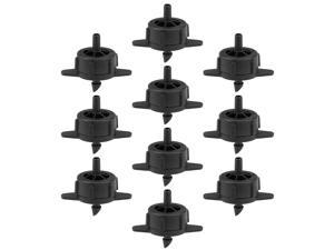 Pressure Compensating Dripper 1 GPH 4L/H Emitter for Garden Lawn Drip Irrigation with Barbed Hose Connector Black 50pcs