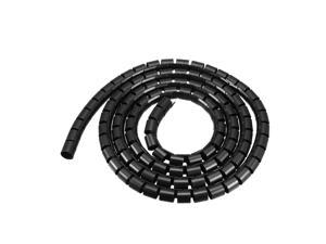 Spiral Tube Wrap Cable Management Sleeve 28mmx31mm 2 Meters Length Black